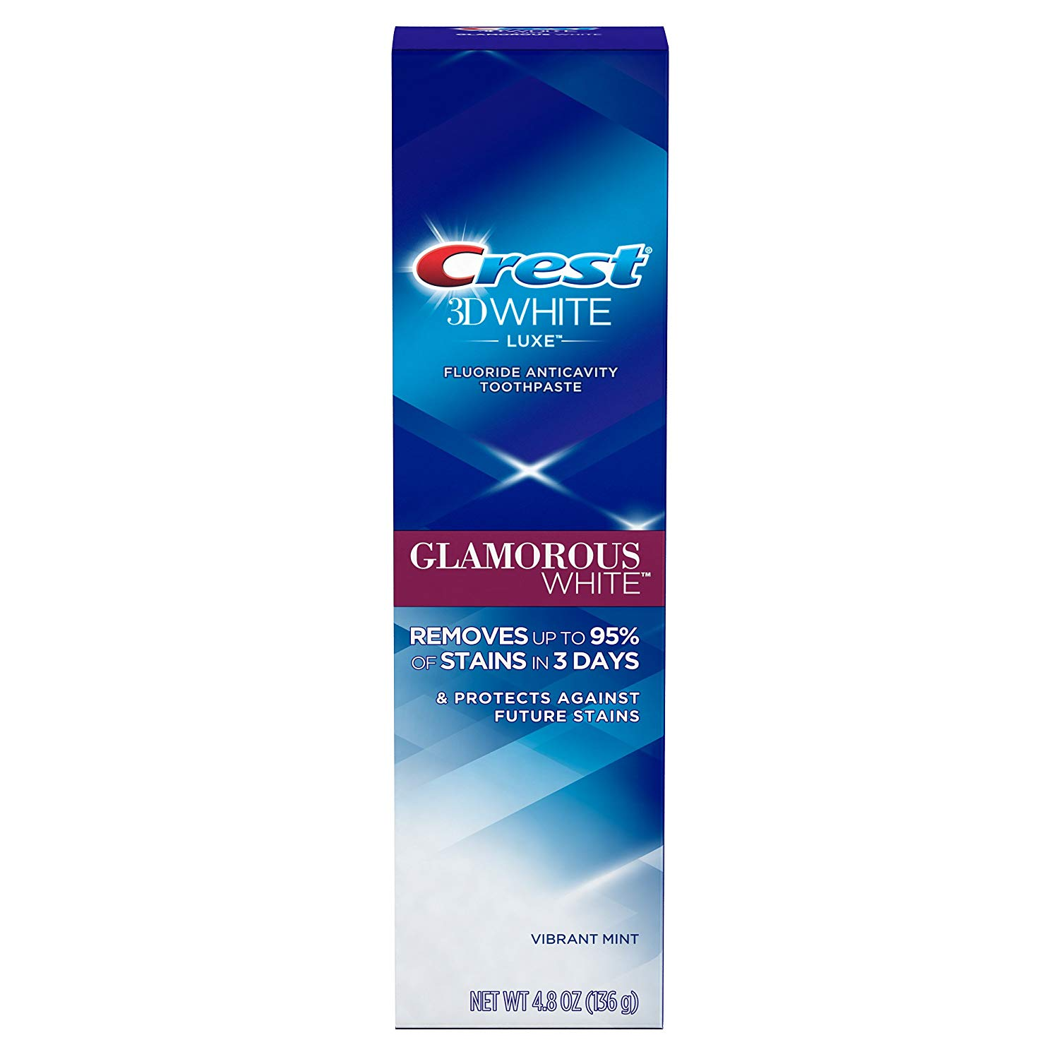 2 Pack Crest 3D White Luxe Glamorous Whitening Toothpaste