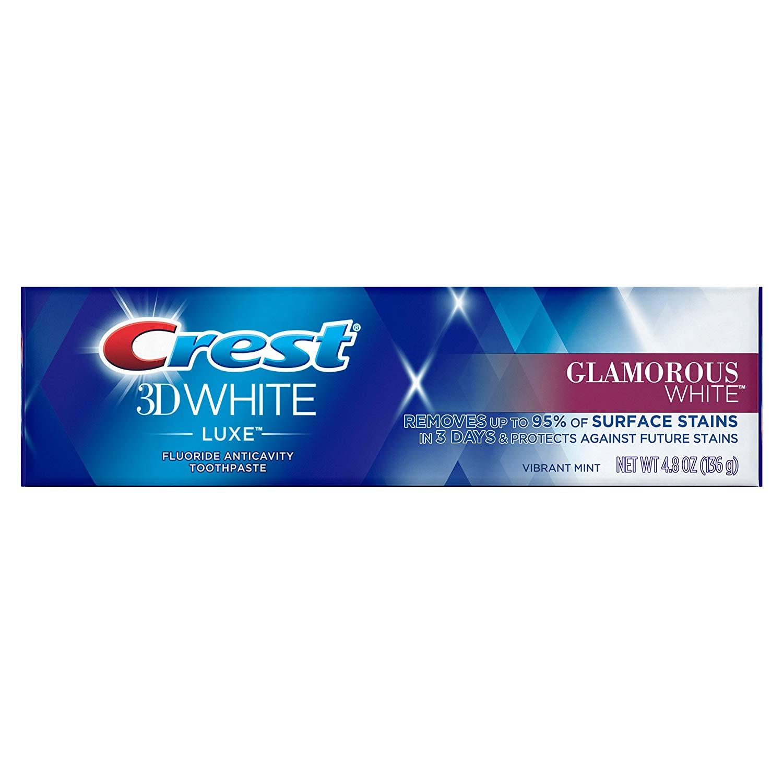 Crest 3d White Luxe Glamorous Whitening Toothpaste Vibrant Mint