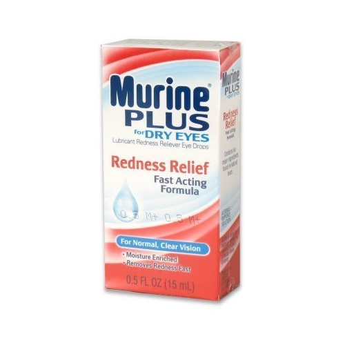 3 Pack Murine Plus Eye Drops Redness Relief For Dry Eyes 0