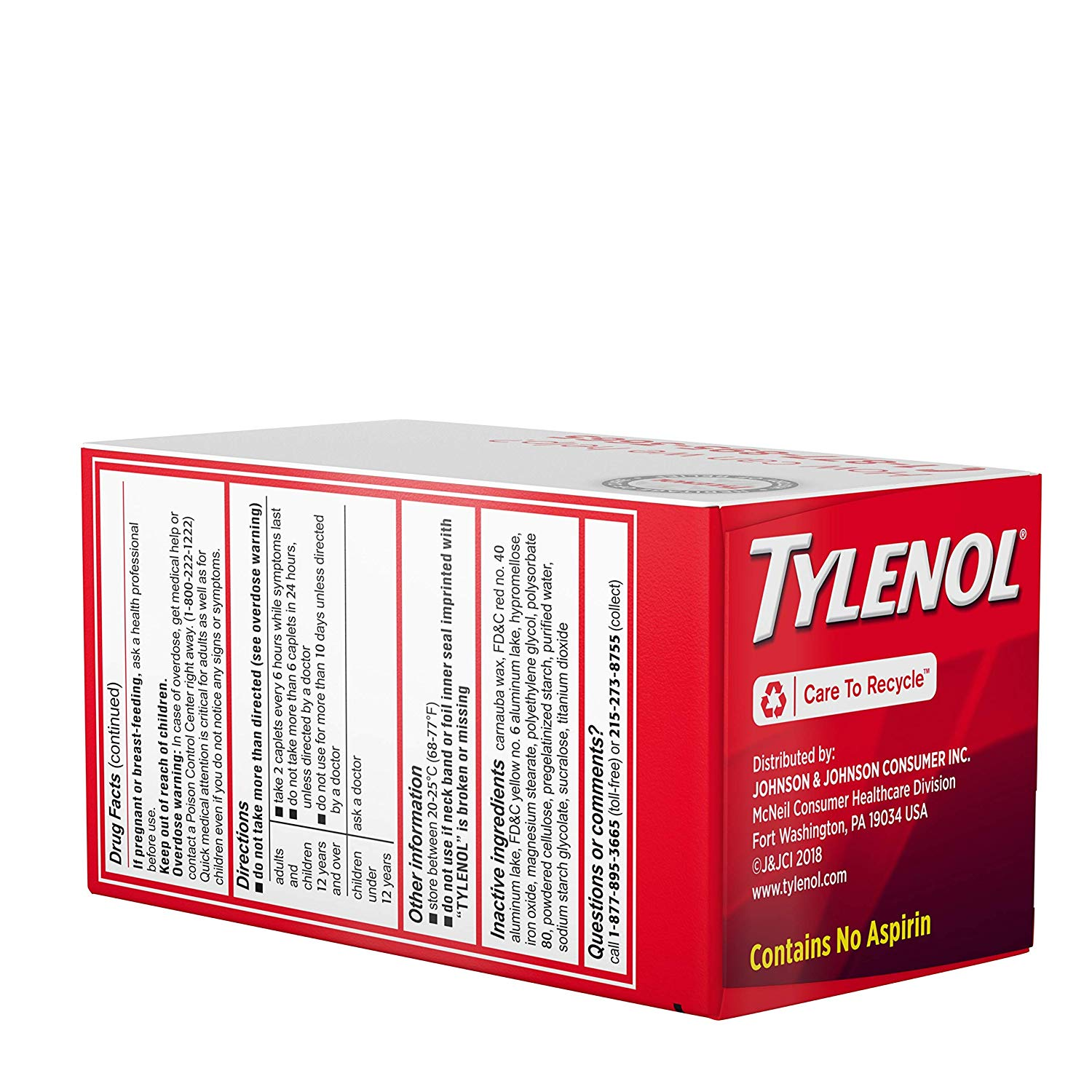 Details about 4 Pack Tylenol Extra Strength 500mg Pain Fever Reducer, 100  Tablets Each