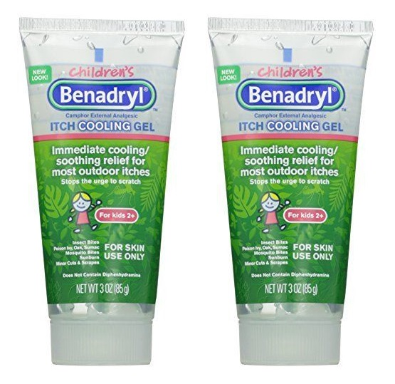 Details about 2 Pack - Benadryl Children's Anti-Itch Cooling Gel 3oz Each