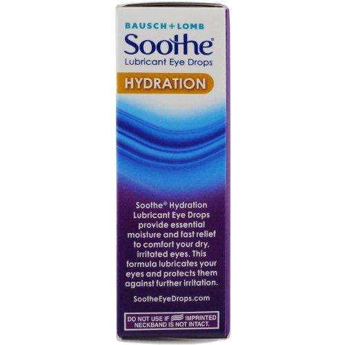 Bausch Lomb Soothe Lubricant Eye Drops Hydration 0.50 Oz