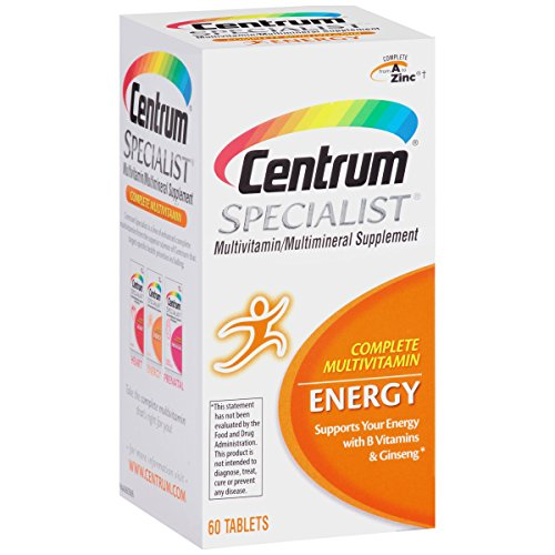 Vitamins For Energy >> Details About Centrum Specialist Multivitamin Multimineral Supplement Energy 60 Tablets