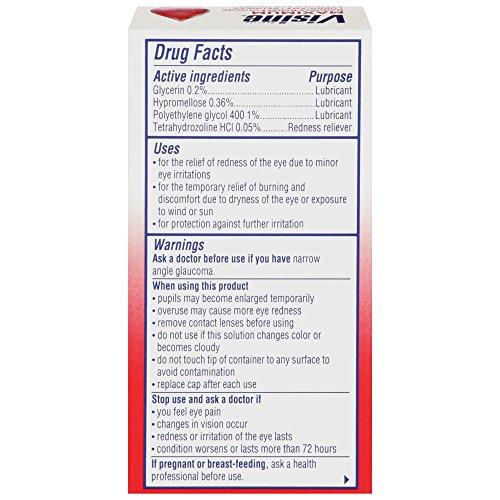 6 Pack Visine Maximum Redness Relief Formula Sterile Eye